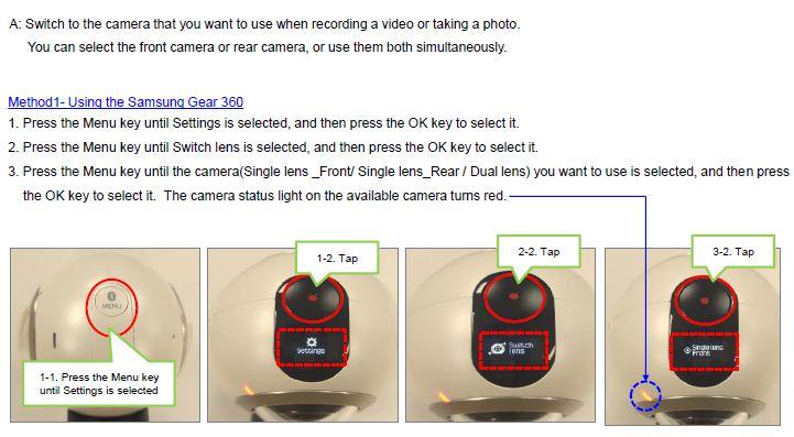 Gear 360 Camera Switch