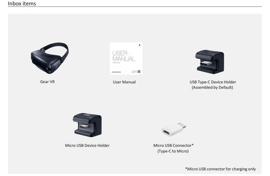 Gear VR Inbox Contents