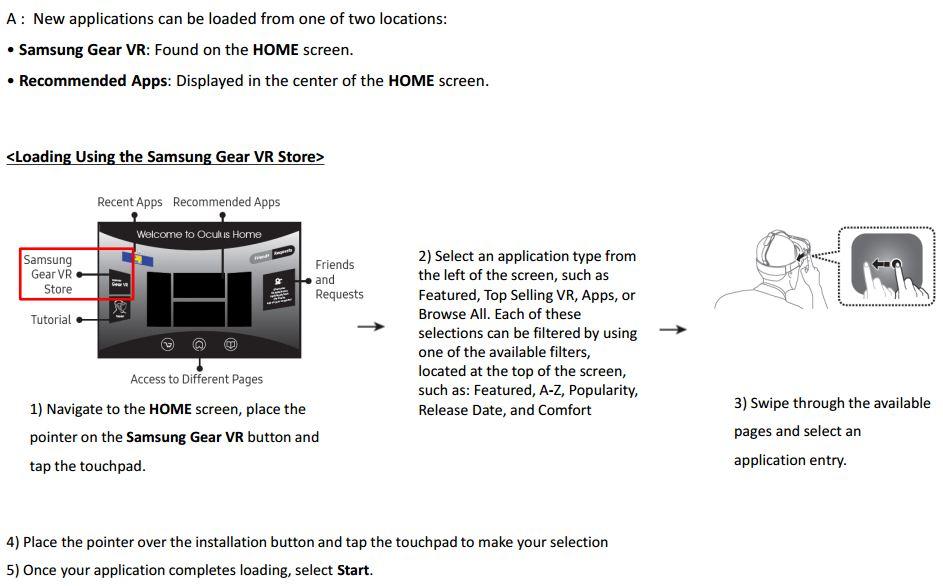 Gear VR install Apps