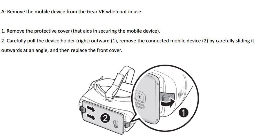 Gear VR remove device