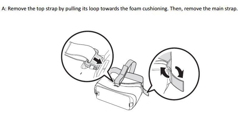 Gear VR remove straps