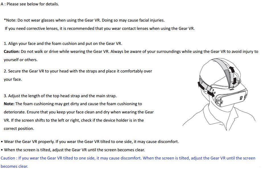 Gear VR wear
