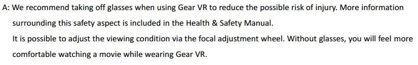 Gear VR Remove Glasses