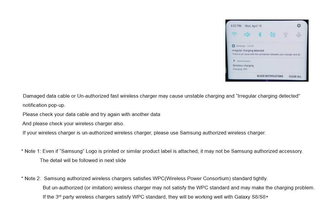 S8 irregular Charging