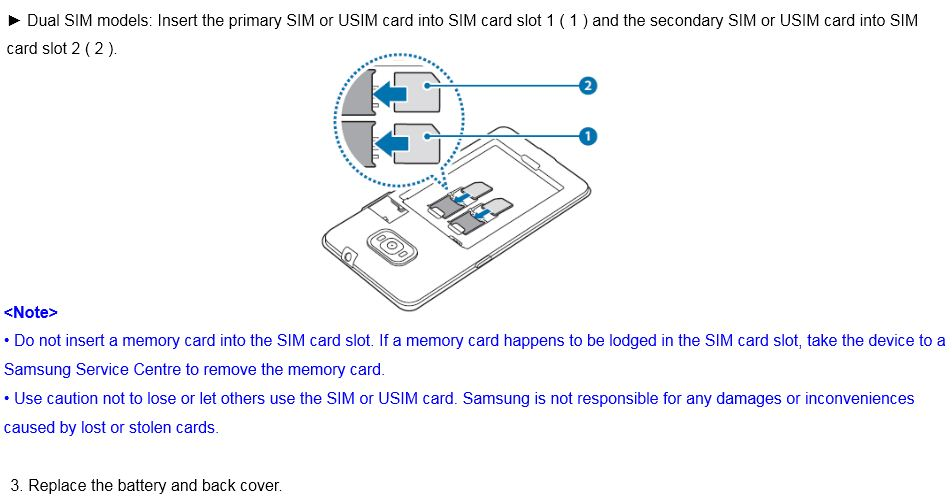 How do I install the SIM or USIM card on Samsung Z4?