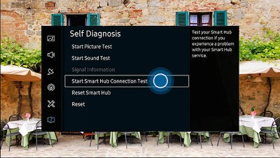 Select Start Smart Hub Connection Test.