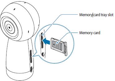 Insert the memory card tray back into the memory card tray slot.
