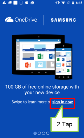 Information about the offer of the OneDrive.