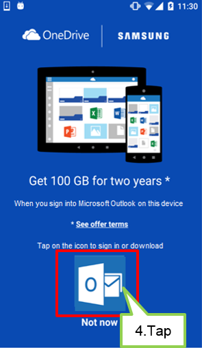Launch Outlook application.