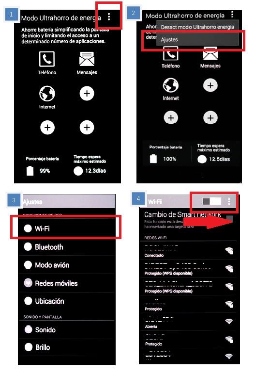 activar red Wi-Fi