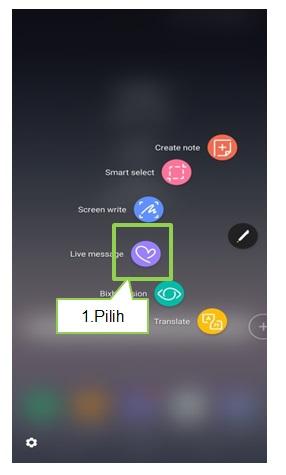 Bagaimana cara menggunakan Live Message Note 8?