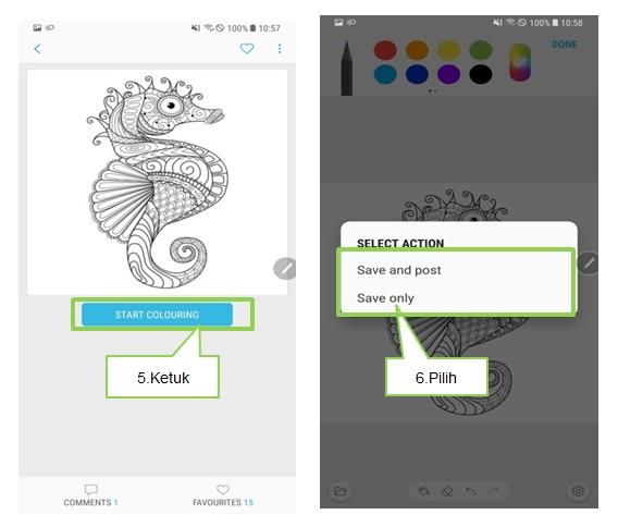 Bagaimana cara menggunakan Fitur Coloring pada Note 8?