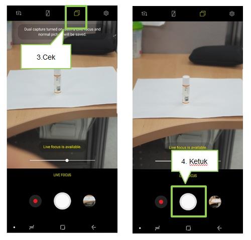 Bagaimana cara mengambil foto dengan fitur Dual Camera?