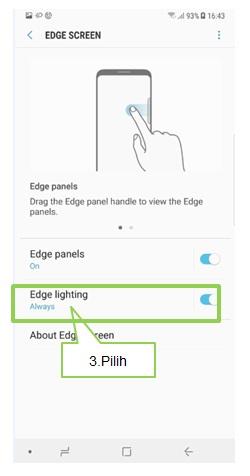 Bagaimana cara mengatur Edge Lighting layar Note 8?
