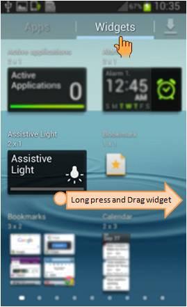 如何在三星智能手機開啟手電筒/ 輔助燈功能?