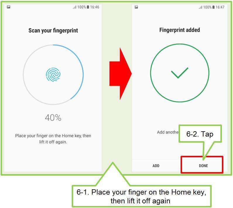 How do I register fingerprints on my J7 Pro?