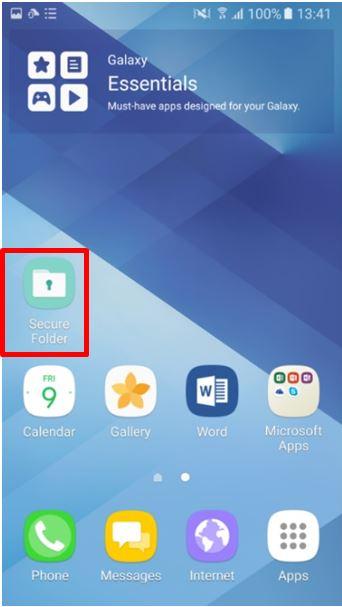 How do I create Secure Folder on my Galaxy J7 Pro?