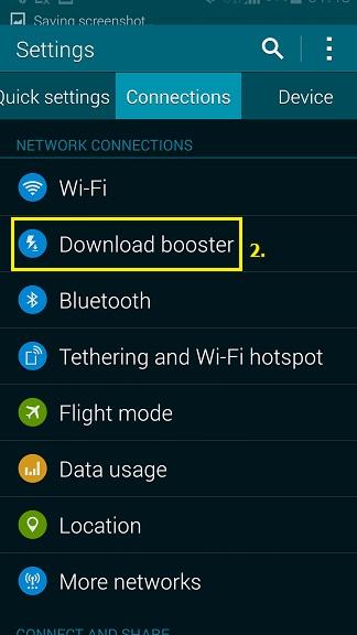 การใช้งานฟังก์ชั่น Download booster