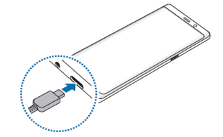 Galaxy Note 8 如何充電?