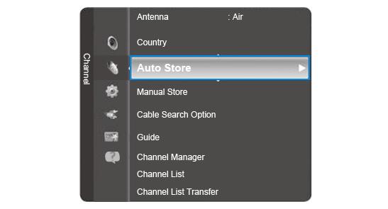 Channel > Auto Store